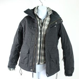 The North Face black white Dryvent 3 in 1 jacket